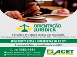ORIENTAÇÃO JURÍDICA NA ACET